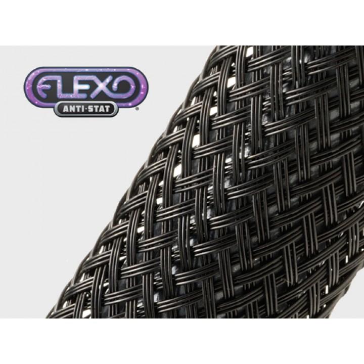Techflex CNN1.50BK Flexo Anti-Stat Размер 38.1 mm, проводящая углерод кабельная оплетка из нейлона