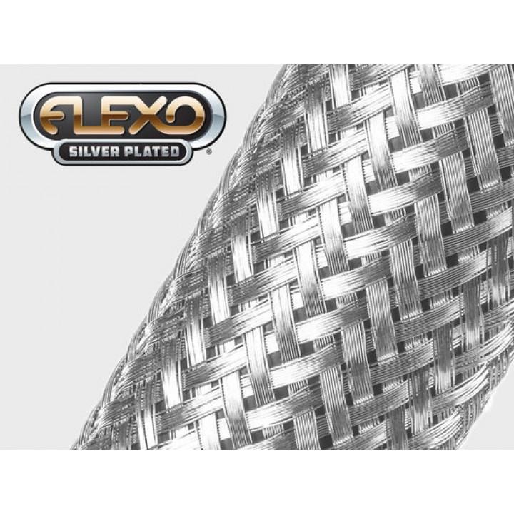 Techflex MBS0.50SV Flexo Silver Plated Размер 12.7 mm, посеребренная медная оплетка для экранирования и заземления